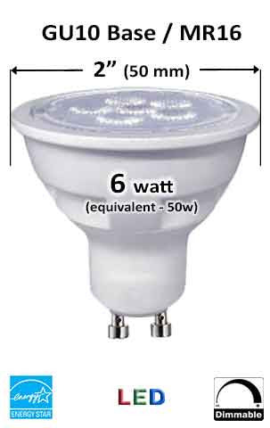 MR16 GU10 LED Bulb - Measurement
