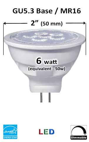 MR16 GU5.3 LED Bulb - Measurement