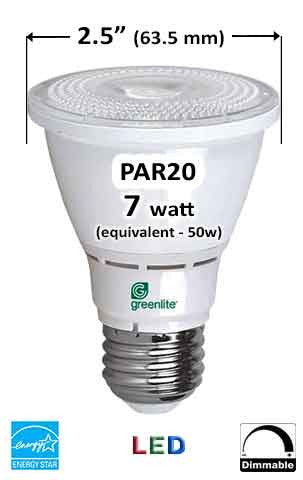 PAR20 E26 LED Bulb - Measurement