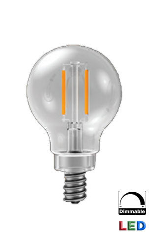 LED G16.5 Filament Mini Globe - 4 watt light bulb