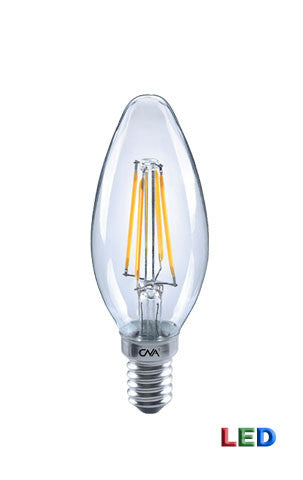 LED Chandelier Filament 4 watt light bulb