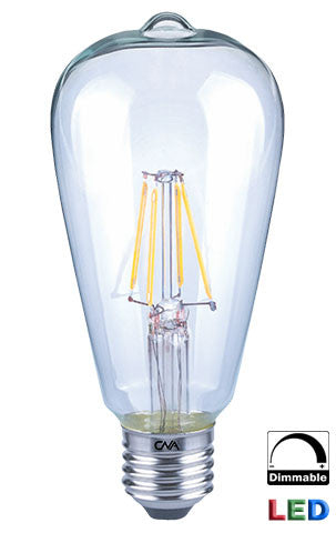 Dimmable LED Edison Filament 4 watt light bulb