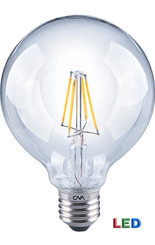 LED G25 Filament 4 watt Globe Shaped light bulb