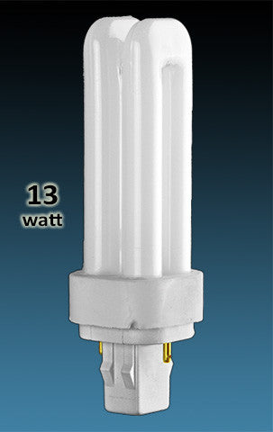 Pin Based - CFL Plug In - 13w - DOUBLE TWIN TUBE With 2 Pin Base