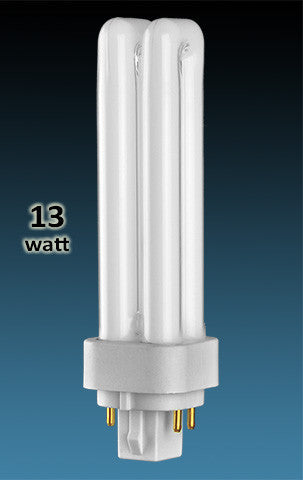 Pin Based - CFL Plug In - 13w - DOUBLE TWIN TUBE With 4 Pin Base
