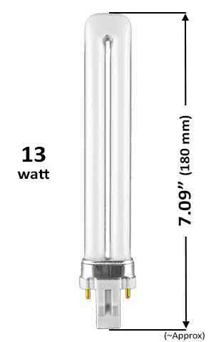Pin Based - CFL Plug In - 13w - SINGLE TWIN TUBE With 2 Pin Base