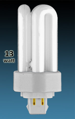 Pin Based - CFL Plug In - 13w - TRIPLE TWIN TUBE With 4 Pin Base