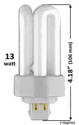 13w - TRIPLE TWIN TUBE With 4 Pin Base
