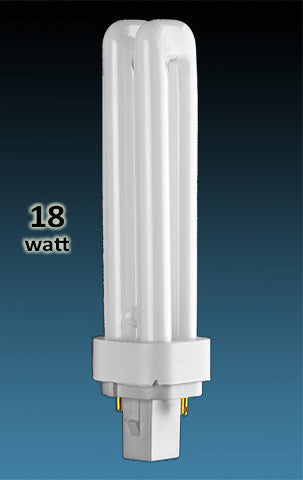 Pin Based - CFL Plug In - 18w - DOUBLE TWIN TUBE With 2 Pin Base
