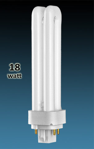 Pin Based - CFL Plug In - 18w - DOUBLE TWIN TUBE With 4 Pin Base