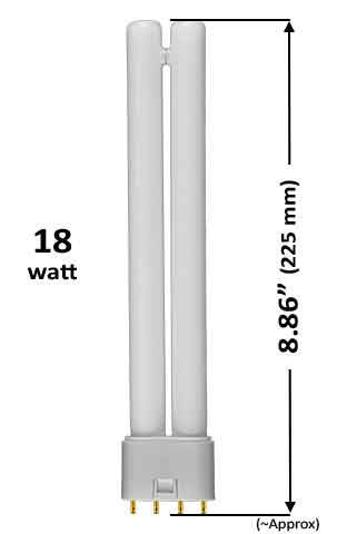 Pin Based - CFL Plug In - 18w - LONG TWIN TUBE With 4 Pin Base