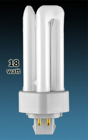 Pin Based - CFL Plug In - 18w - TRIPLE TWIN TUBE With 4 Pin Base