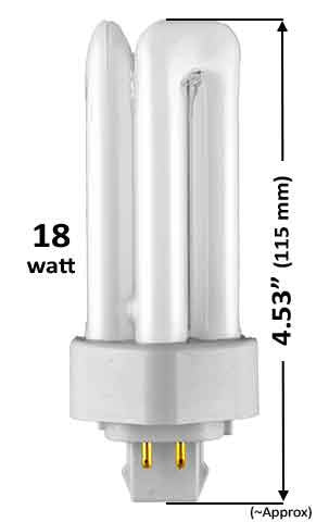 18w - TRIPLE TWIN TUBE With 4 Pin Base