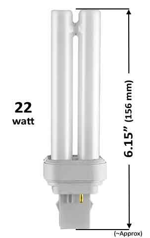 Pin Based - CFL Plug In - 22w - 15mm (FDL) Plug-in With 2 Pin Base