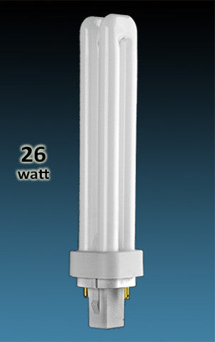 Pin Based - CFL Plug In - 26w - DOUBLE TWIN TUBE With 2 Pin Base