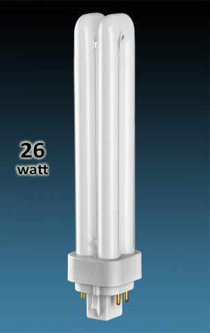 Pin Based - CFL Plug In - 26w - DOUBLE TWIN TUBE With 4 Pin Base