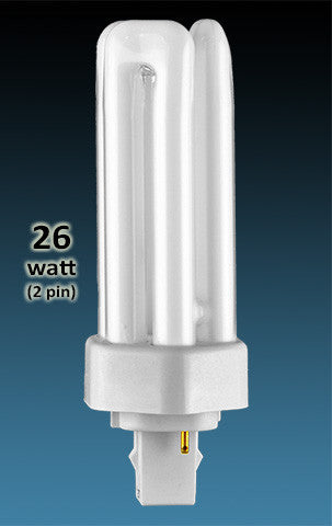 Pin Based - CFL Plug In - 26w - TRIPLE TWIN TUBE With 2 Pin Base