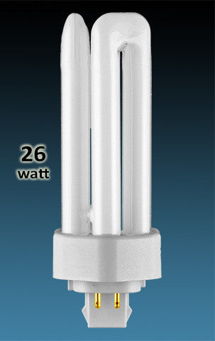 Pin Based - CFL Plug In - 26w - TRIPLE TWIN TUBE With 4 Pin Base