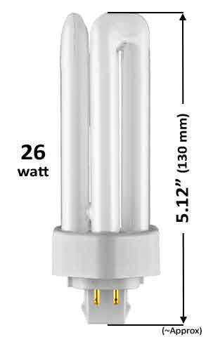 26w - TRIPLE TWIN TUBE With 4 Pin Base