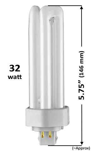 Pin Based - CFL Plug In - 32w - TRIPLE TWIN TUBE With 4 Pin Base