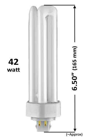 Pin Based - CFL Plug In - 42w - TRIPLE TWIN TUBE With 4 Pin Base