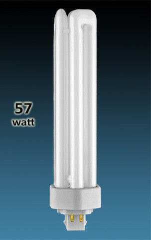 Pin Based - CFL Plug In - 57w - TRIPLE TWIN TUBE With 4 Pin Base