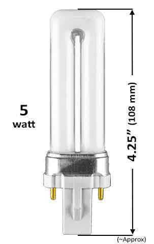Pin Based - CFL Plug In - 5w - SINGLE TWIN TUBE With 2 Pin Base