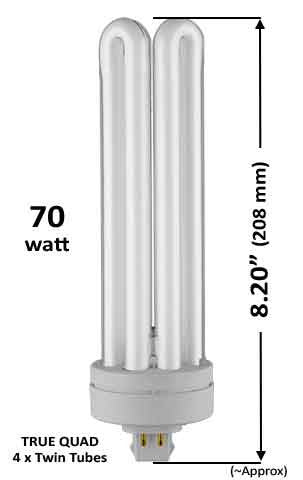 Pin Based - CFL Plug In - 70w - QUAD TWIN TUBE With 4 Pin Base