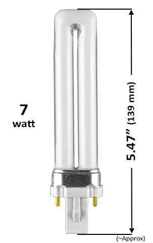 Pin Based - CFL Plug In - 7w - SINGLE TWIN TUBE With 2 Pin Base