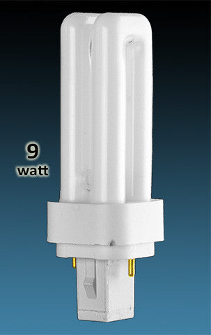 Pin Based - CFL Plug In - 9w - DOUBLE TWIN TUBE With 2 Pin Base