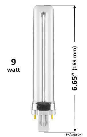 Pin Based - CFL Plug In - 9w - SINGLE TWIN TUBE With 2 Pin Base