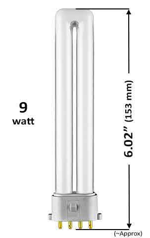 Pin Based - CFL Plug In - 9w - SINGLE TWIN TUBE With 4 Pin Base