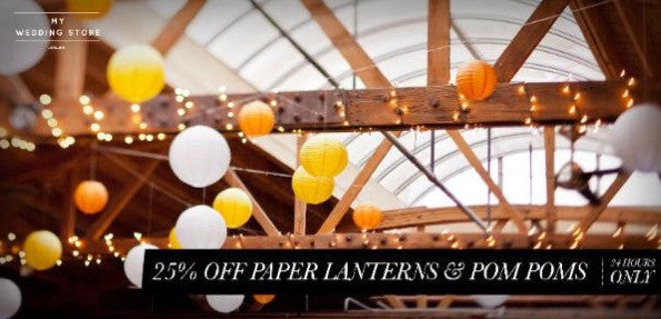 Paper lantern, lighting & pom pom sale for 24 hrs - Don't miss!