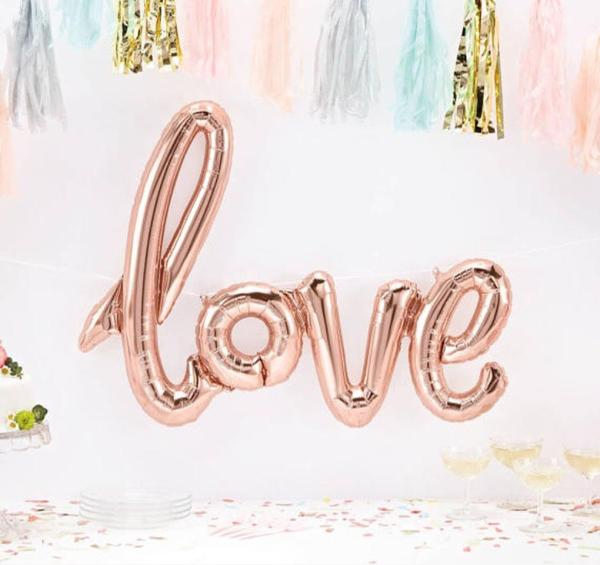 Brand New Rose Gold Love Balloons Just Landed! Soooo sweet!