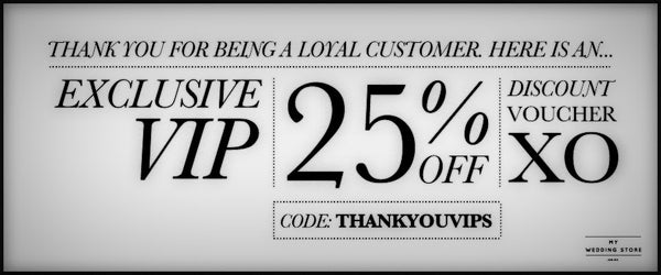 Here is an Exclusive VIP 25% Off Voucher for you... ❤