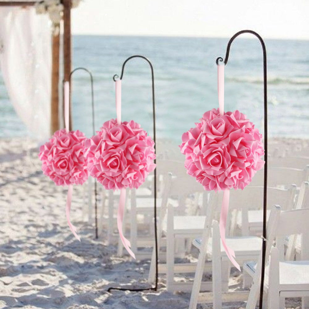 Hanging Kissing Flower Ball Pink My Wedding Store