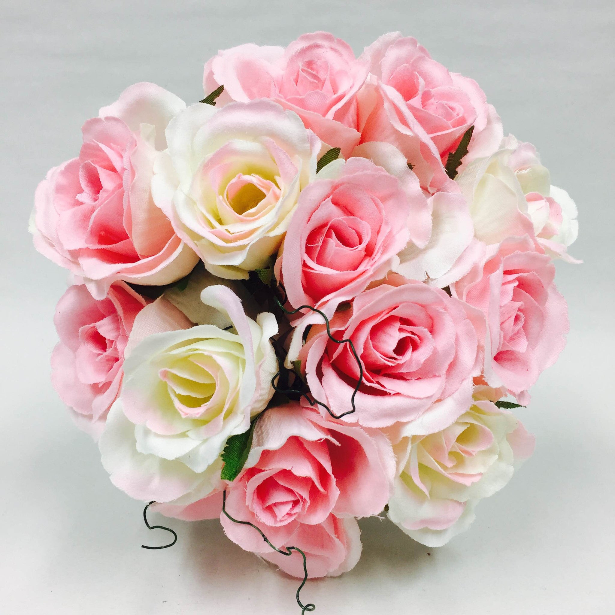 Ivory & Baby Pink Rose Bouquet - My Wedding Store