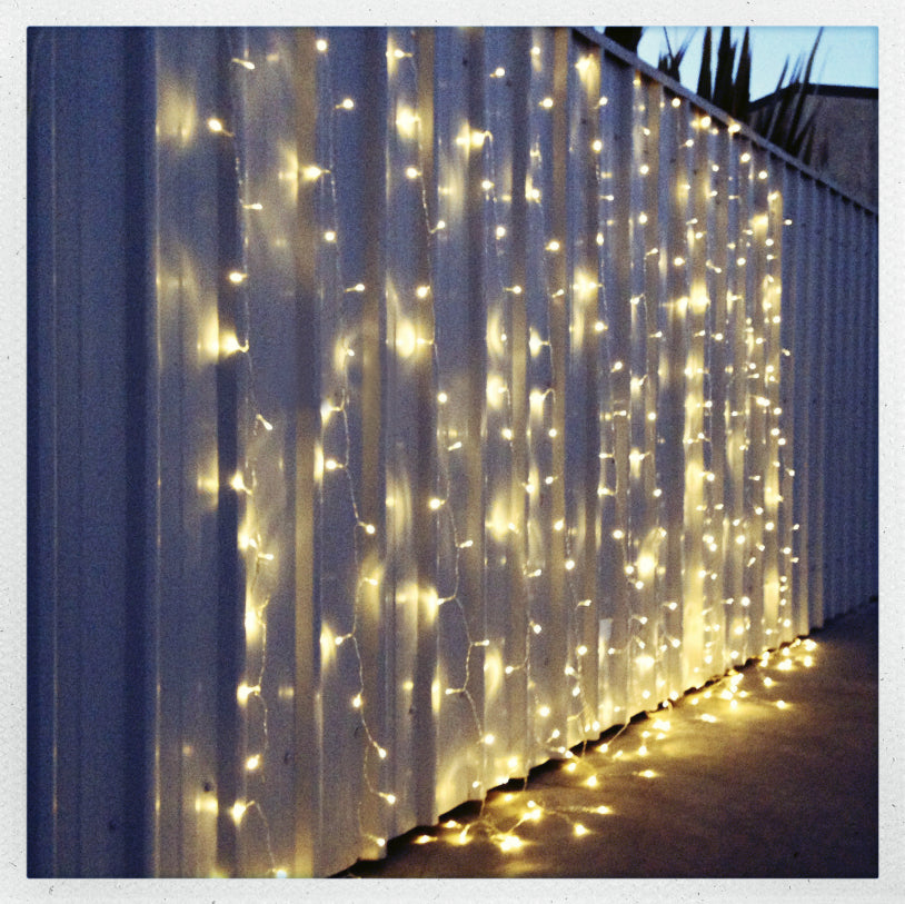 Warm White Led Fairy Light Curtain 6m X 3m My Wedding Store