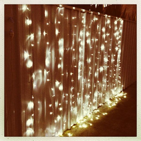 White Led Fairy Light Curtain 3m X 3m My Wedding Store