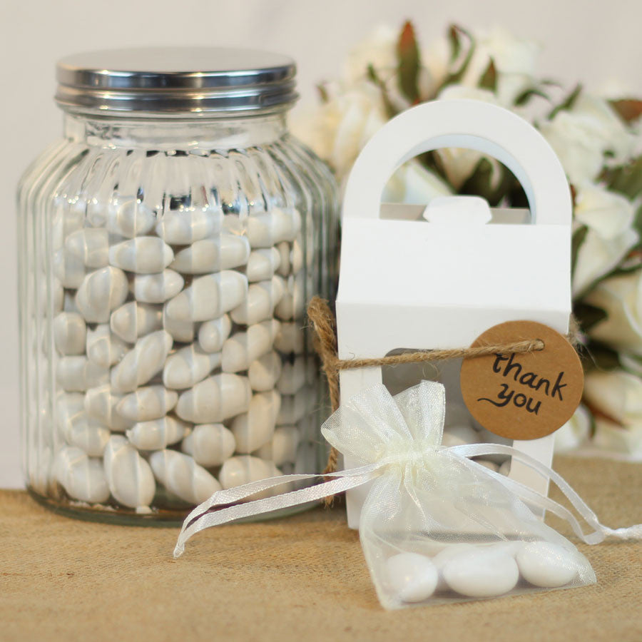 White Jordan Almonds - 2 KG - My Wedding Store