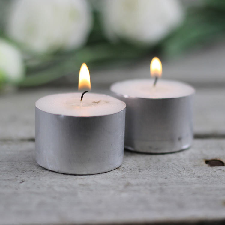 Tealight Candles - 9 Hours - White (50 pcs) - My Wedding Store