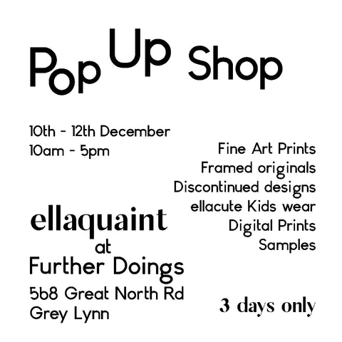 ellaquaint pop up store at further doings studio