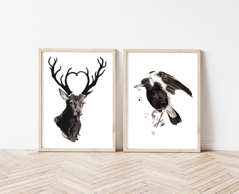 Black Hart - a limited edition Dark Beastie print