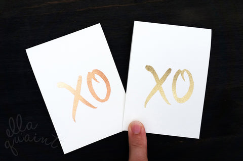 XO - a hand gilded gift card