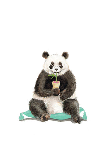 Panda Bear 2013 - an Original Watercolour Illustration