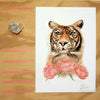 Tiger and Peonies - limited edition