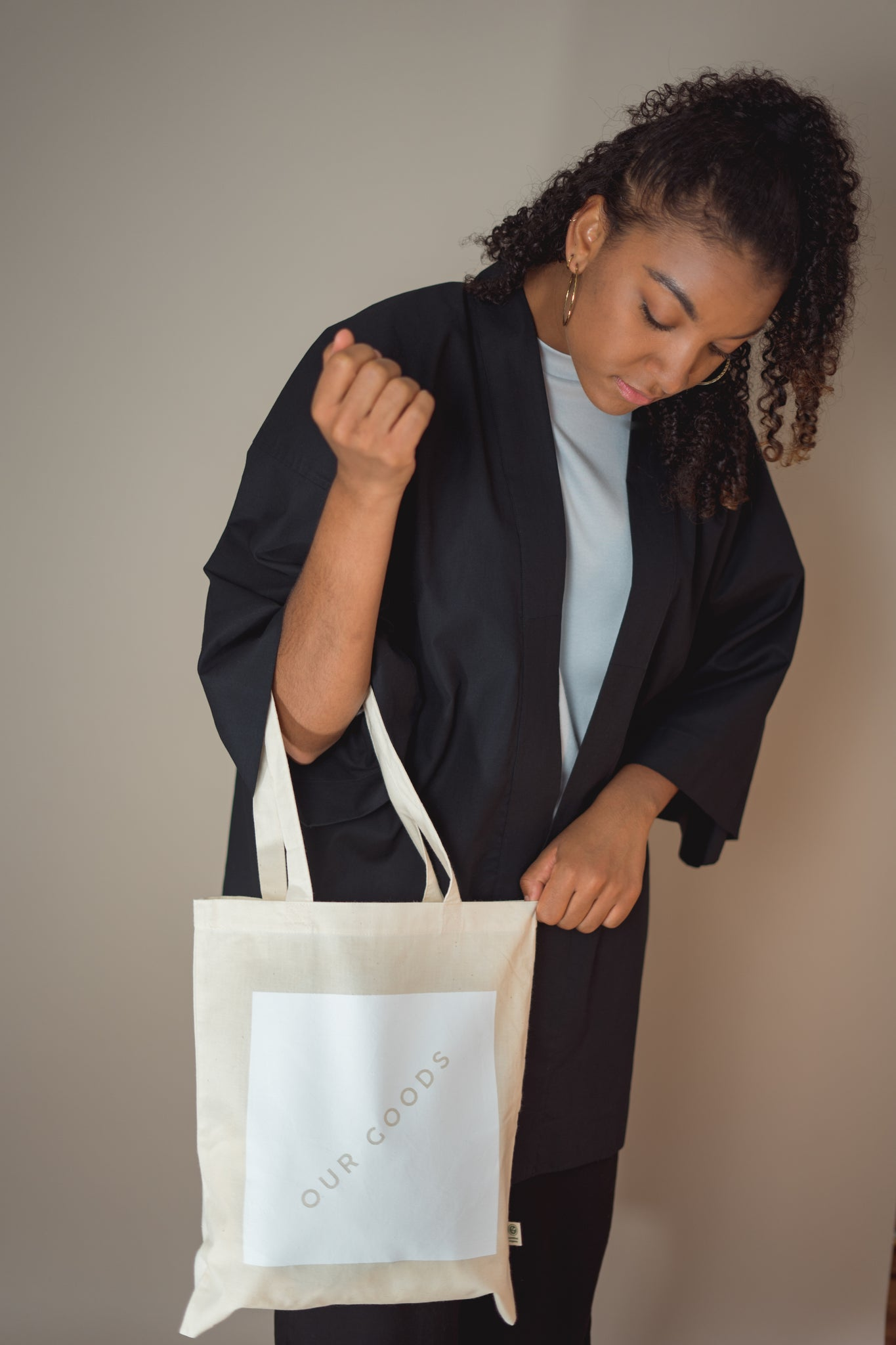 Organic Cotton Logo Tote Bag