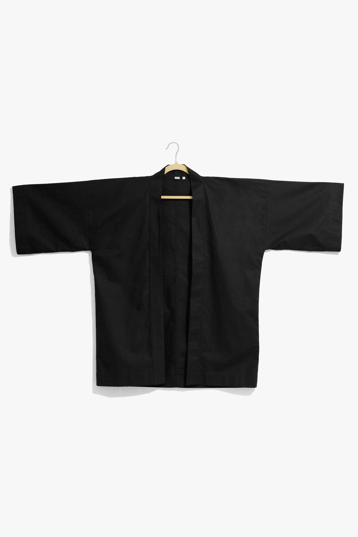 Black Cotton Twill Box Jacket
