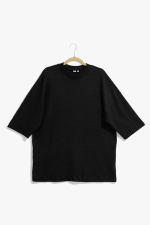 Black Heavyweight Elbow Tee