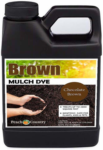 Peach Country Premium Chocolate Brown Mulch Color Concentrate - 2,800 Sq. Ft.(1QT)